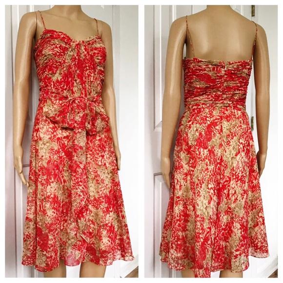 Ralph Lauren Dresses & Skirts - Ralph Lauren spaghetti Strap Pleated Aline Dress